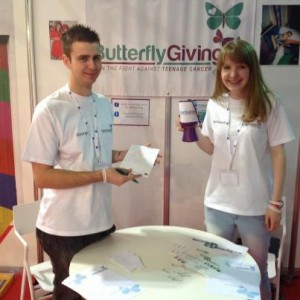 'George and Hannah at Youth Enterprise Live '12'